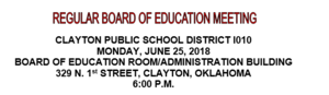 June Board Meeting Agenda