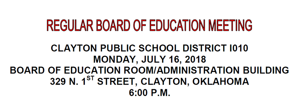 July Board Meeting Agenda