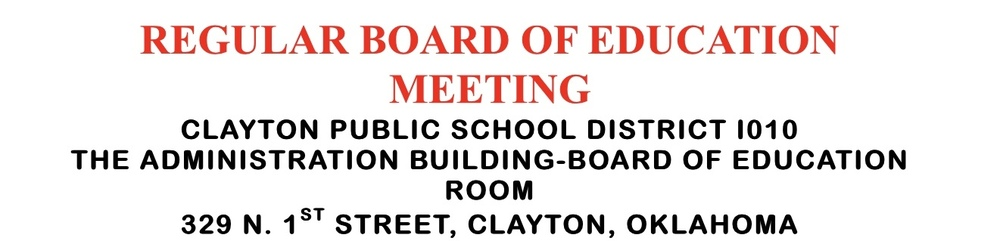 Regular January 2020 Board Agenda