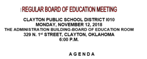 November Board Meeting Agenda