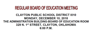 December Board Meeting Agenda