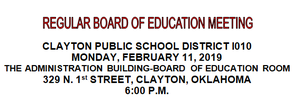 February Board Meeting Agenda