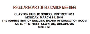 March Board Meeting Agenda