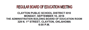 September Board Meeting Agenda