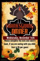 Thanksgiving Dinner Nov 14th