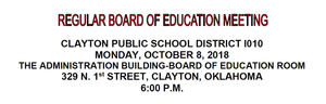 October Board Meeting Agenda